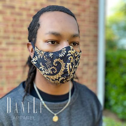 Golden Paisley Mask