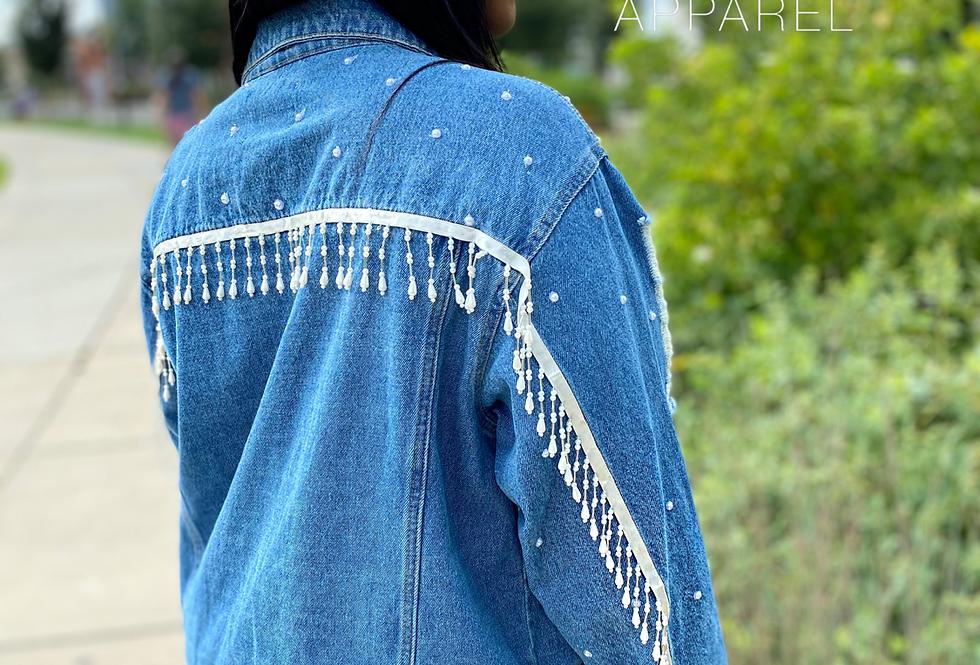 Pearl Fringe Denim jacket