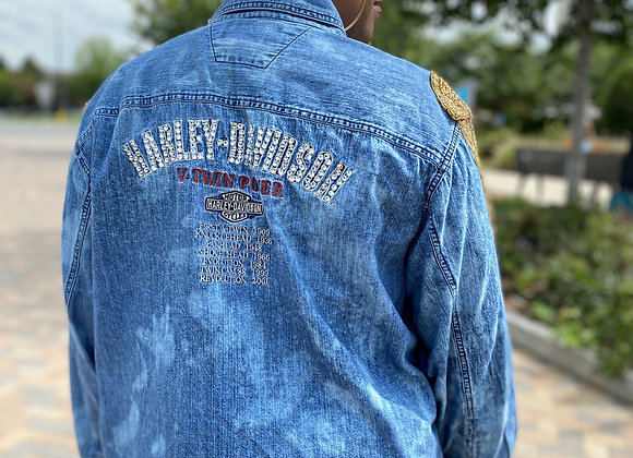 Vintage Harley Bling Denim Shirt