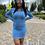 Thumbnail: Crystal Stud Denim Dress