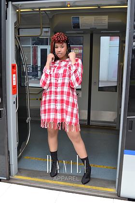 Sequin Hood Flannel Dress