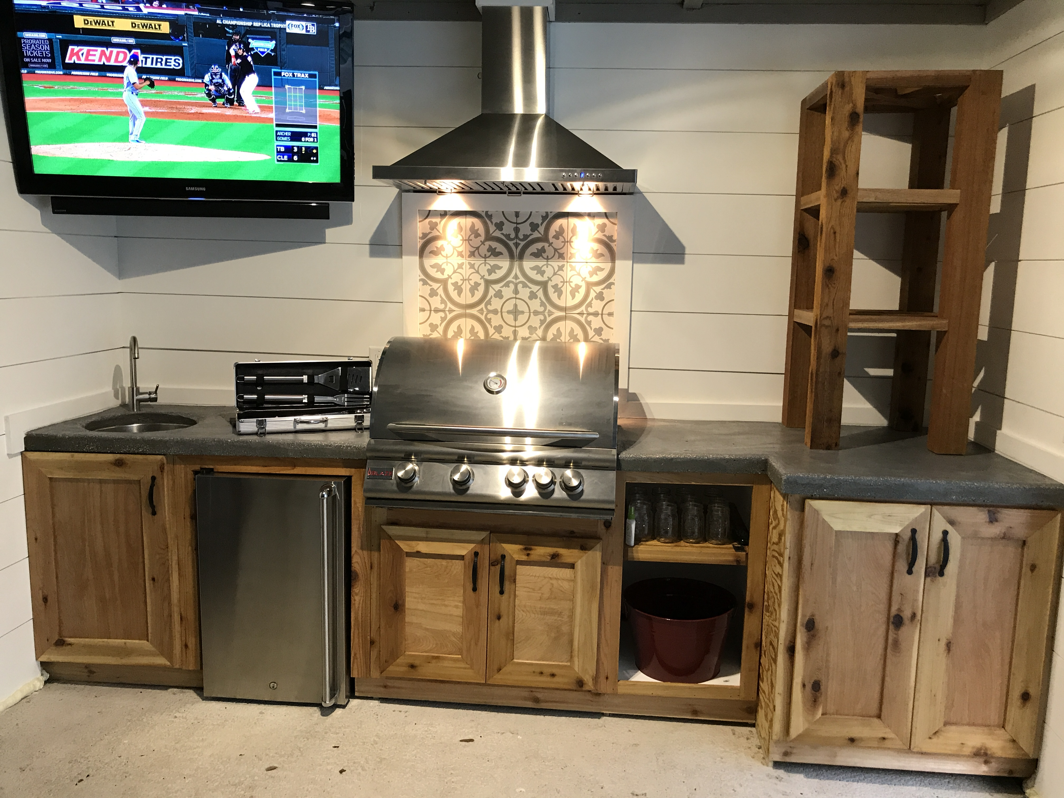 Cedar & Concrete Outdoor Living