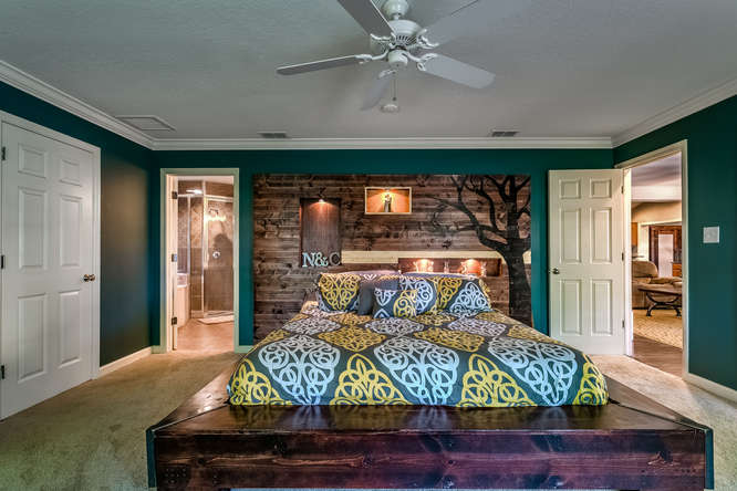 Beam Platform Bed + Feature Wall