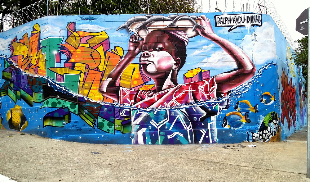 Graffiti por Ralph - Kadu e Dinas Miguel