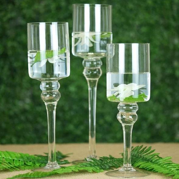 Set of 3 Glass Vase
