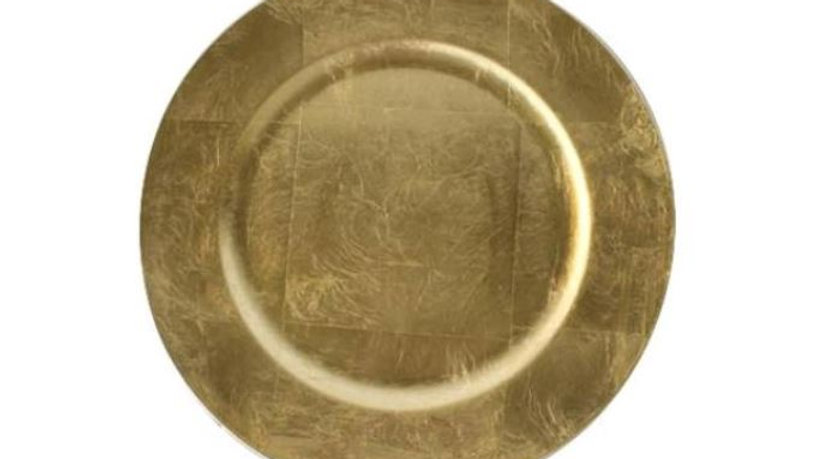 Gold Foil Charger Plate