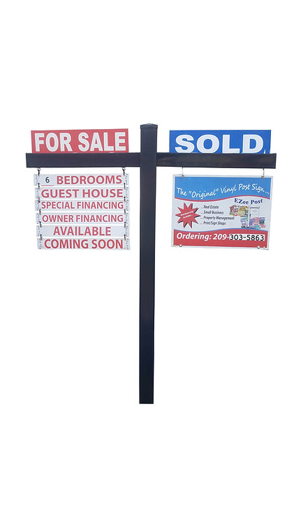 EZee Post Corcovado Yard Sign Post - Black