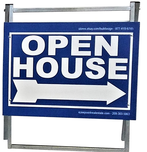 "EZee Post Standard ""A"" Frame Open House Sign, 3 Pack - Blue"