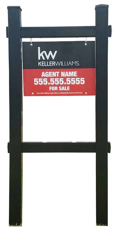 EZee Post Double Eagle Yard Sign Post - Black