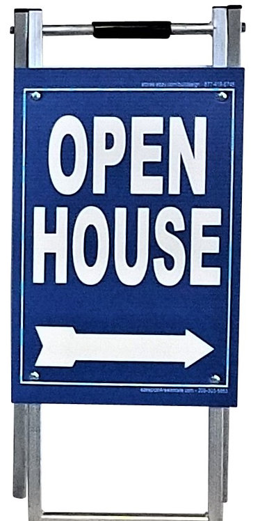 "EZee Post Mini Metal ""A"" Frame Open House Sign Kit, 5-Pack - Blue"