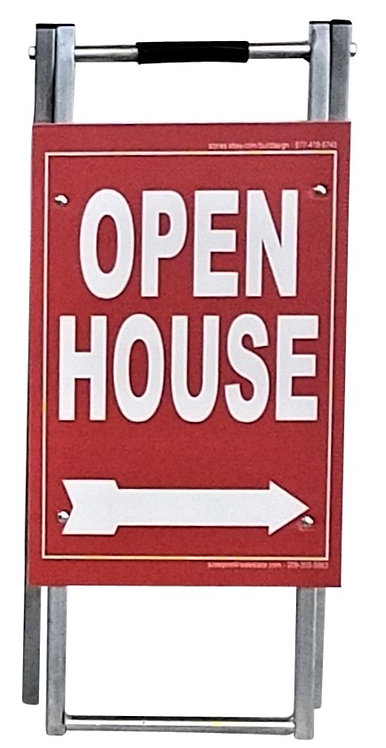 "EZee Post Mini Metal ""A"" Frame Open House Sign Kit, 5-Pack - Red"