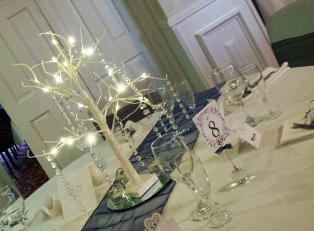 Small tree centre pieces