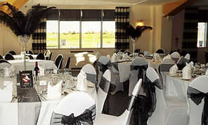 black and white corporate party