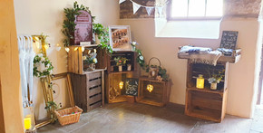 crate props display with post box