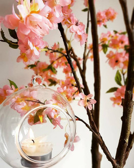 Glass bauble on the blossom tree...