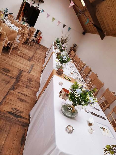 rustic and vintage top table