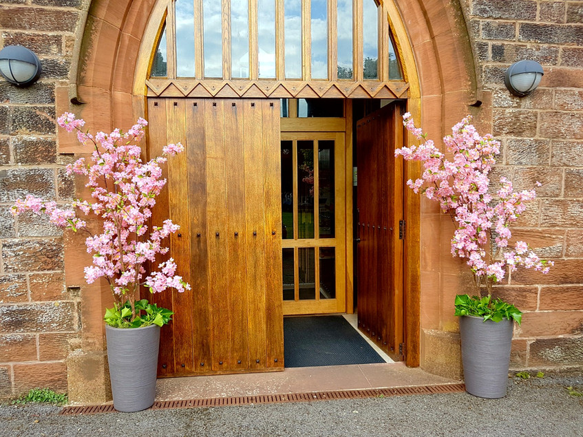 Blossom tree entrance...