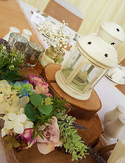 lanterns make great rustic centre piece displays