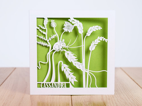 Field Mouse Personalised Birthday Card