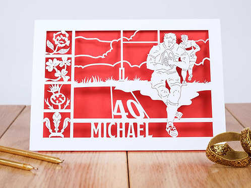 The Rugby Match Birthday Card