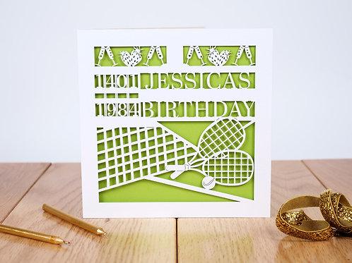 Anyone for Tennis? Birthday Card
