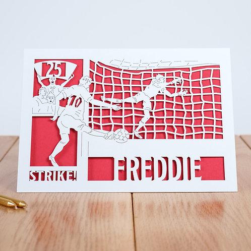 Football Personalised Birthday Card