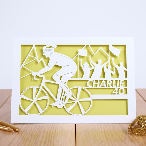 Bicycle Racer Birthday Card