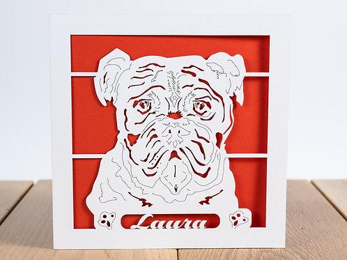 Boxer Dog, Personalised Birthday Card