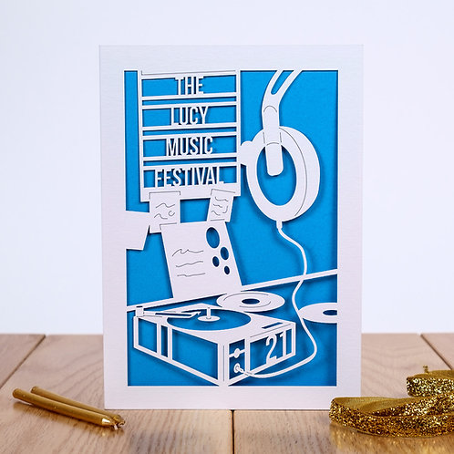 Music Festival Personalised Birthday Card