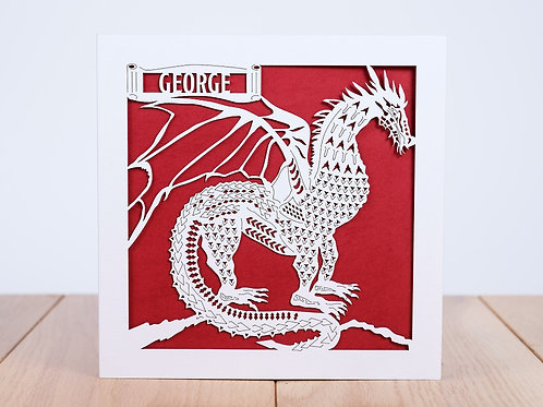 The Dragon Personalised Birthday Card