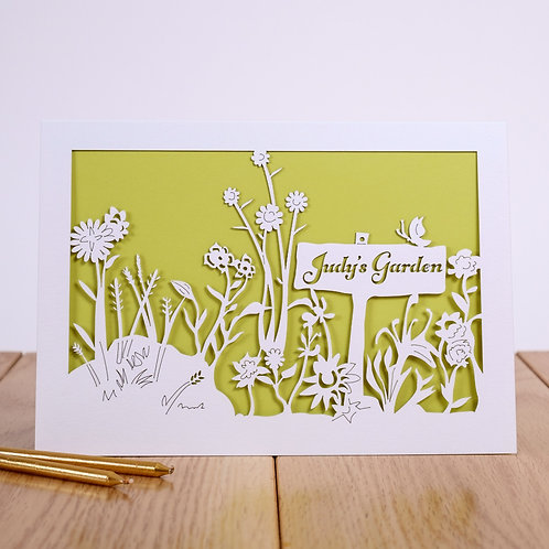 Flowers in your Garden Personalised Birthday Card