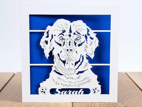 Labrador Dog, Personalised Birthday Card