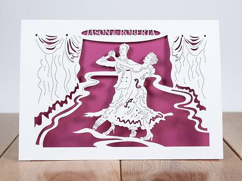 Ballroom Dancers, Personalised Anniversary Card, Birthday Card