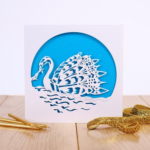 The Swan Personalised Birthday Card