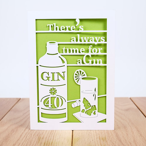 Time for Gin Birthday Card