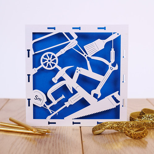 Tool Time Laser Cut Birthday Card
