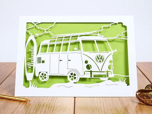 Campervan Travels Birthday Card