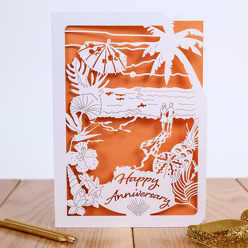 Tropical Footsteps Anniversary Card
