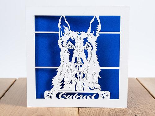 German Shepherd, Alsatian Personalised Birthday Card