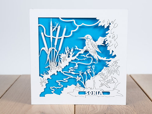 The Kingfisher, Personalised Birthday Card, Bird Card