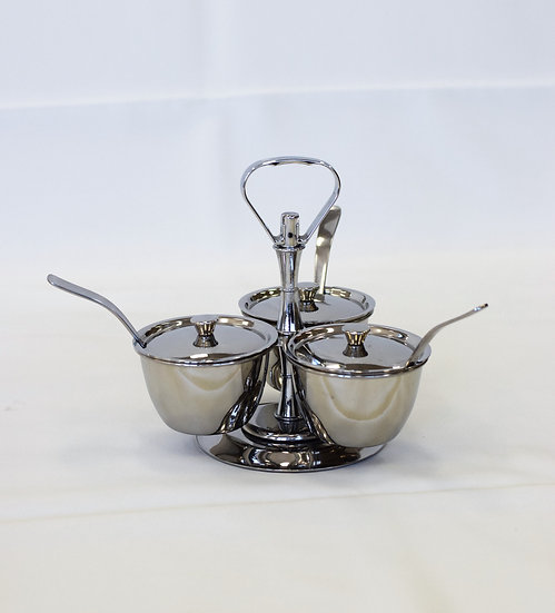 Carousel - Stainless Steel - 3 comp
