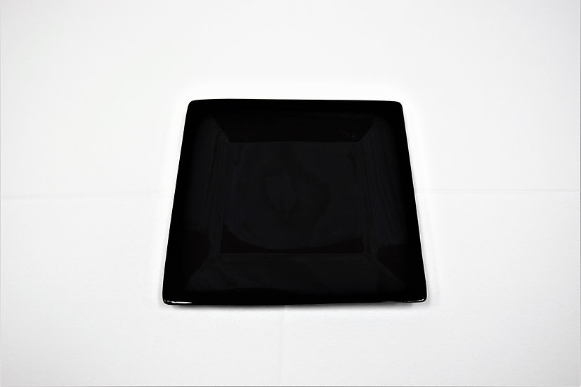"China Plate 7"" Square Black"
