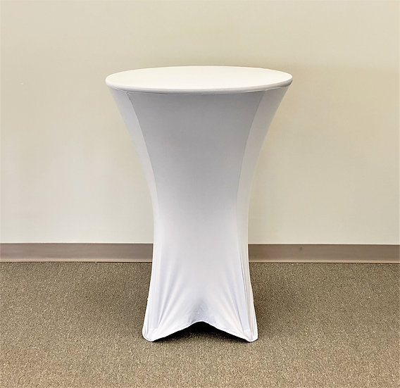 "Silver 30"" Round Spandex Tablecloth"