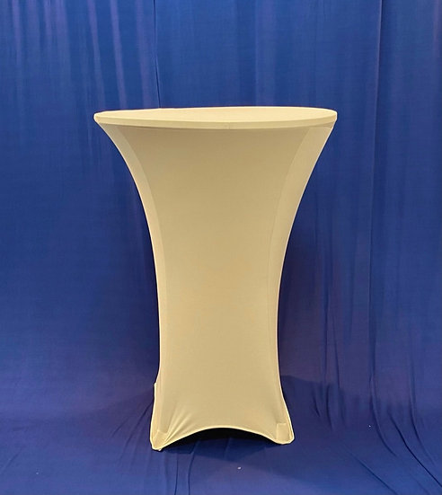 """30"""" Round Spandex Champagne Cocktail Tablecloth"""