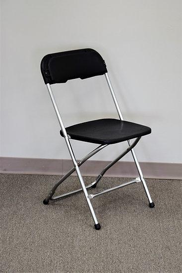 Chair Black & Chrome Folding