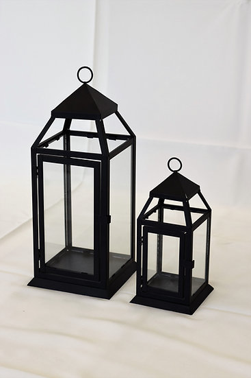 "Lantern 18"" Black"