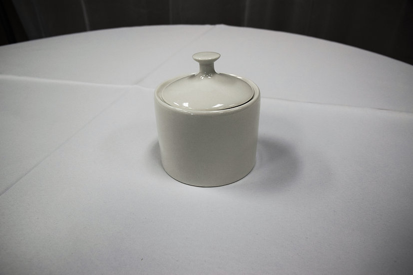 China Sugar Bowl White