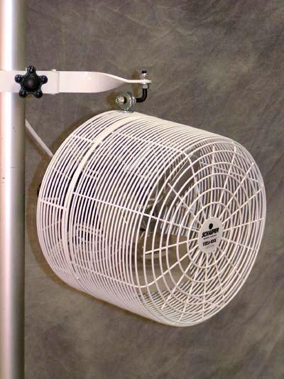 White Tent Fan