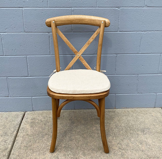 Natural Wood Cross Back Chair