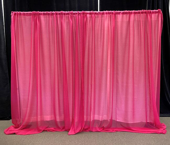 Pipe & Drape 10' Hot Pink Sheer